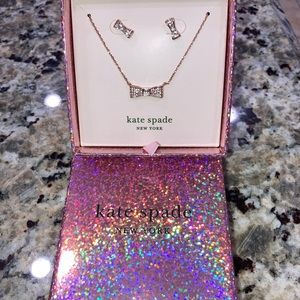 New Kate Spade Bow earrings and necklace